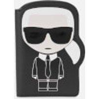 Karl Lagerfeld Womens K/Ikonik Passport Holder - Black