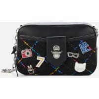 Karl Lagerfeld Womens K/Studio Tweed Camera Bag - Black Mult