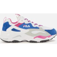 FILA Women's Ray Tracer Trainers - Amparo Blue/Magenta/White - UK 8