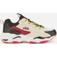 FILA Men's Ray Tracer Trainers - Fila Cream/Black/Fila Red - UK 10