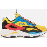 FILA Men's Ray Tracer Festival Trainers - Freesia/Black/Aster Blue - UK 8