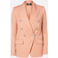 Balmain Women's Oversized 6 Button Peak Lapel GDP Jacket - Nude - FR 38/UK 10