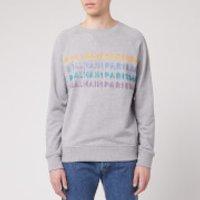 Balmain Men's Printed Balmain Sweatshirt - Grey - XL