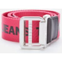 Tommy Jeans Women's TJW Webbing Belt 3.5 - Carmine/Black - 90/36in