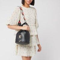 Furla Women's Sleek Small Drawstring - Black