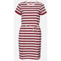 Tommy Hilfiger Women's Angela Regular Short Sleeve Dress - Multi Stripe/White - M