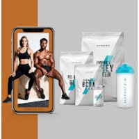 The Build Muscle Bundle   Free Training   Nutrition Guide   Tropical   Blue Raspberry   Unflavoured