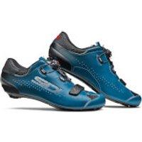 Sidi Sixty Road Shoes - Black/Petrol - EU 41.5