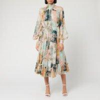 Zimmermann Women's Wavelength Smock Midi Dress - Patchwork Floral - 1/UK 10