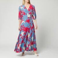 Calvin Klein Womens Print 3/4 Sleeve Wrap Maxi Dress - Multi -  UK 10/EU 40