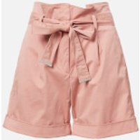Calvin Klein Women's Cotton Paper Bag Waisted Shorts - Pink -  UK 10/EU 40