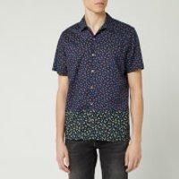 PS Paul Smith Men's Printed Casual Short Sleeve Shirt - Dark Navy - XL