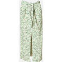 Ganni Women's Printed Crepe Wrap Midi Skirt - Tapioca - EU 34/UK 6