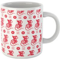 Year Of The Rat Red Pattern Mug Mug