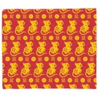 Year Of The Rat Pattern Fleece Blanket - Blanket Gifts