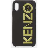 KENZO Men's Tonal Logo iPhone X Case - Black/Yellow