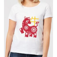 Chinese Zodiac Ox Women's T-Shirt - White - XXL - White