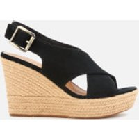 UGG Womens Harlow Suede Wedged Sandals - Black - UK 8