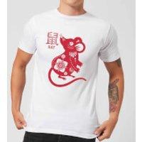 Year Of The Rat Mens T-Shirt - White - XL - White