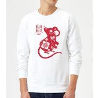 Year Of The Rat Sweatshirt - White - L - White