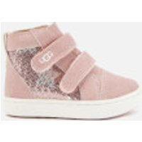 UGG Toddlers' Rennon II Stars Hi-Top Trainers - Pink Crystal - UK 9 Toddler