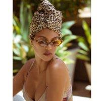 Aquis x Poosh Exclusive Leopard Print Hair Turban