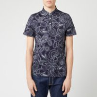 Ted Baker Men's Fright Paisley Printed Polo Shirt - Navy - S/2