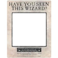 Harry Potter White Wanted Selfie Frame Poster with Props - Selfie Gifts