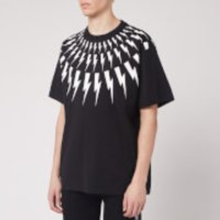 Neil Barrett Men's Fairisle Thunderbolt T-Shirt - Black/White - XL
