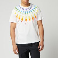 Neil Barrett Men's Fairisle Thunderbolt T-Shirt - White/Multi - S