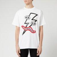 Neil Barrett Men's Surrealistic Lightning Bolt T-Shirt - White/Black/Red - M