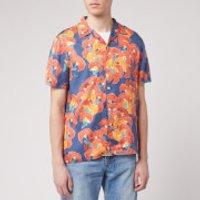 Nudie Jeans Men's Arvid Flowers Short Sleeve Shirt - Multi - L