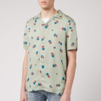 Nudie Jeans Men's Arvid Random Dots Short Sleeve Shirt - Pale Green - M