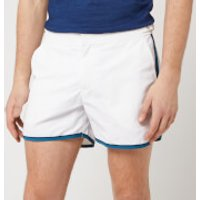 Orlebar Brown Men's Setter Swim Shorts - White/Aquamarine - L/34