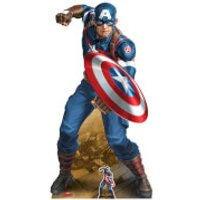 Star Cutouts The Avengers Captain America Crouching Oversized Cardboard Cut Out