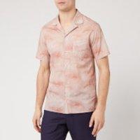 Officine Generale Men's Dario Palm Print Shirt - Pink - XL