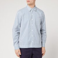 Officine Generale Men's Bob Candy Stripe Shirt - White/Blue - M
