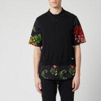 Dsquared2 Men's Polo Shirt - Black Floral Satin - L