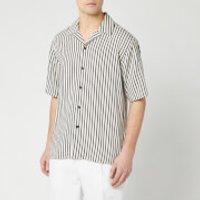AMI Men's Camp Collar Short Sleeve Shirt - Ecru/Noir - L