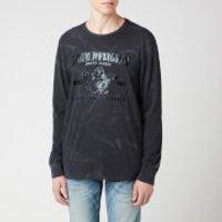 True Religion Men's Seasonal Buddha Crew Neck Long Sleeve T-Shirt - Black - L