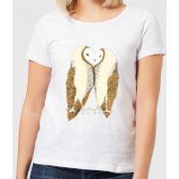 Nuzzling Barn Owls Women's T-Shirt - White - 5XL - White - Owls Gifts