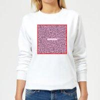 I Love You Word Search Women's Sweatshirt - White - 5XL - White