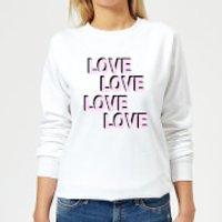 Love Love Love Love Women's Sweatshirt - White - M - White