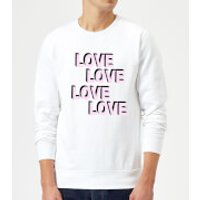 Love Love Love Love Sweatshirt - White - M - White