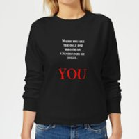 Hello You Women's Sweatshirt - Black - 5XL - Black