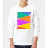 Large Rainbow Hearts Sweatshirt - White - XXL - White