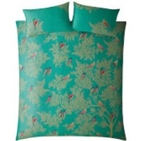 Sara Miller Green Birds Duvet Set - Teal - Double