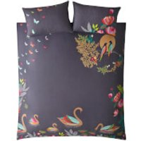 Sara Miller Swan Duvet Set - Grey - Single