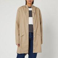 RAINS Women's Long Jacket - Beige - XXS/XS