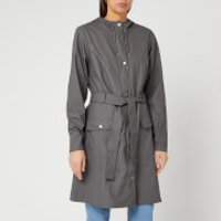 RAINS Womens Curve Jacket - Charcoal - XXS/XS
